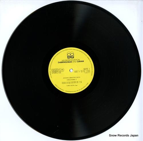 MEISTER, HUBERT bach; orgelwerke ii MD+GG1105 - disc