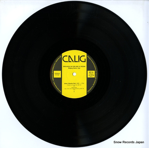 KIECHLE, WOLFGANG bach/reger; orgelmusik aus dem dom zu freising CAL30488 - disc