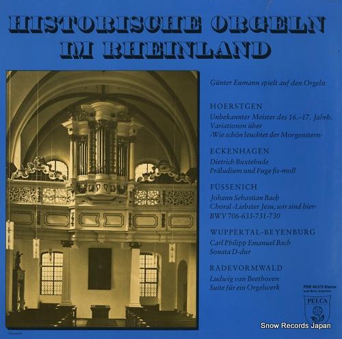 NEUMANN, GUNTER historische orgeln im rheinland PSR40573 - front cover