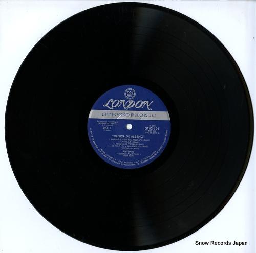 GENIO, ANTONIO musica de albeniz GT(C)191 - disc