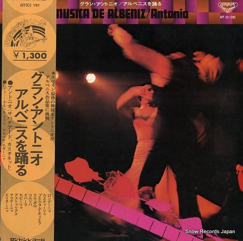 GENIO, ANTONIO musica de albeniz GT(C)191 - front cover