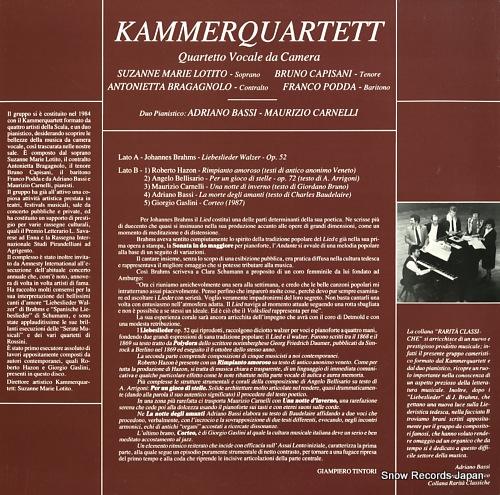 KAMMERQUARTET brahms; liebeslieder walzer op.52 C1141 - back cover