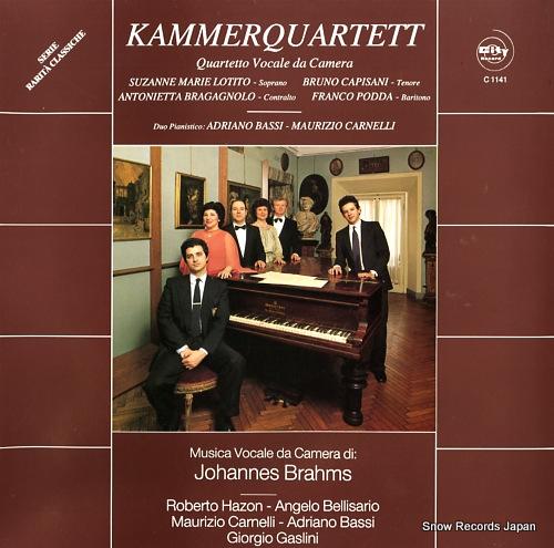 KAMMERQUARTET brahms; liebeslieder walzer op.52 C1141 - front cover