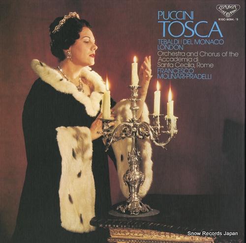 MOLINARI - PRADELLI, FRANCESCO puccini; tosca(complete recording) K15C-9094/5 - front cover