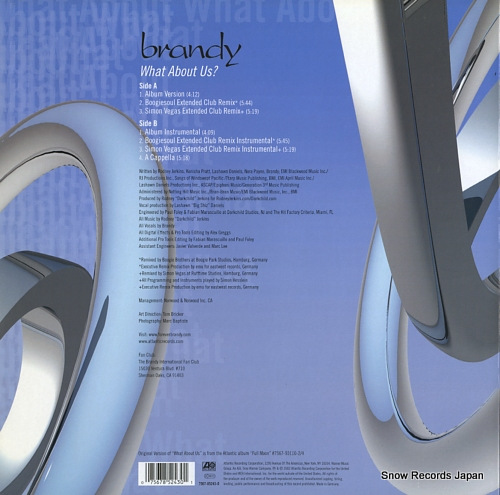 BRANDY what about us? 7567-85243-0 - back cover