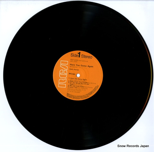 PARTON, DOLLY here you come again RVP-6269 - disc