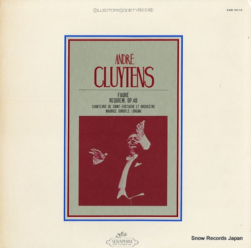 CLUYTENS, ANDRE faure; requiem, op.48 EAB-5014 - front cover