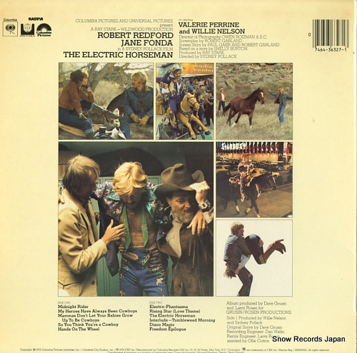 NELSON, WILLIE / DAVE GRUSIN  the electric horseman JS36327 - back cover