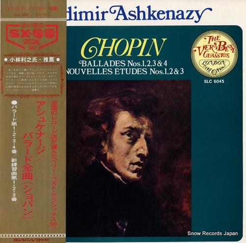 ASHKENAZY, VLADIMIR chopin; ballades nos.1,2,3&4 SLC6045 - front cover