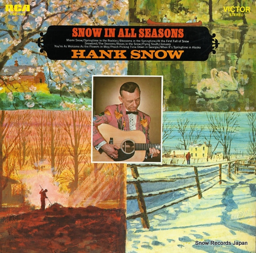 SNOW, HANK snow in all seasons LSP-4122 - front cover