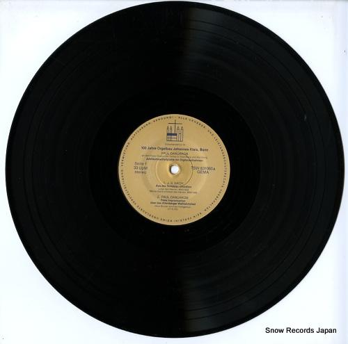 DAMJAKOB, PAUL 100 jahre orgelbau johannes klais bonn 1882-1982 TSW831060 - disc