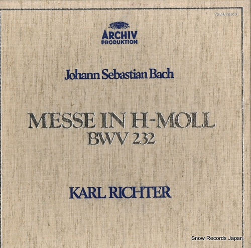 RICHTER, KARL bach; messe in h-moll bwv232 72MA0117/9 - front cover