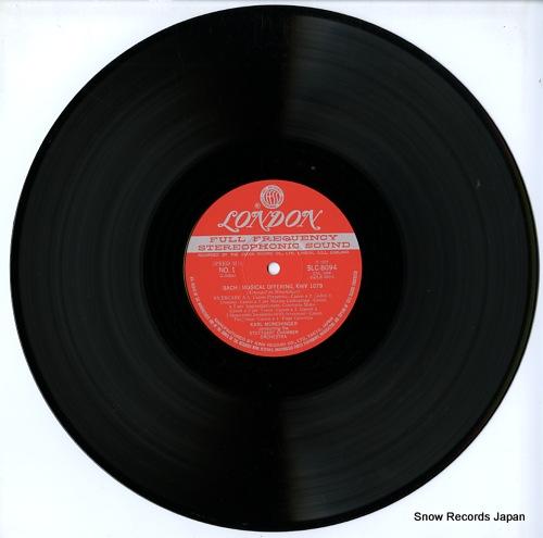 MUNCHINGER, KARL bach; musical offering SLC8094 - disc