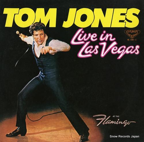 JONES, TOM live in las vegas SL230-1 - front cover