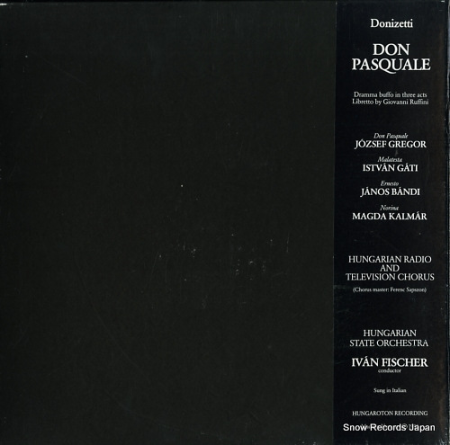 FISCHER, IVAN donizetti; don pasquale SLPD12416-18 - back cover