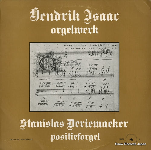 DERIEMAEKER, STANISLAS hendrik isaac orgelwerk MBM8 - front cover