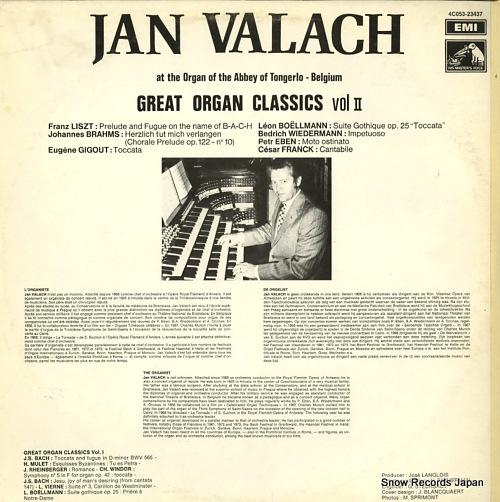 VALACH, JAN great organ classics vol.ii 4C053-23437 - back cover
