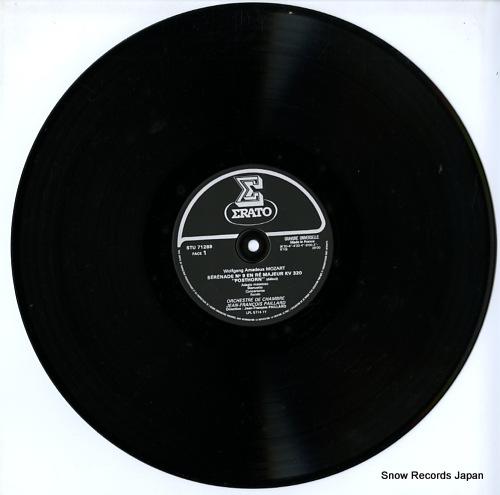PAILLARD, JEAN-FRANCOIS mozart; serenade no9 kv320, no6 kv239 STU71289 - disc