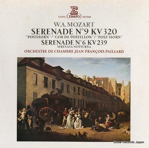 PAILLARD, JEAN-FRANCOIS mozart; serenade no9 kv320, no6 kv239 STU71289 - front cover
