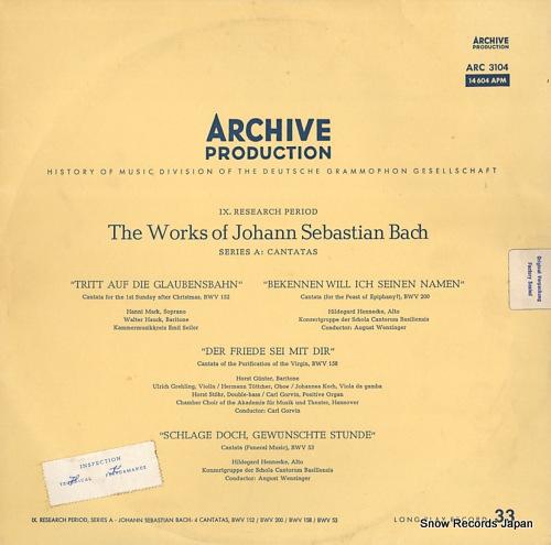 V/A the works of johann sebastian bach ARC3104 / 14604APM - front cover