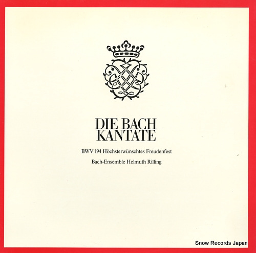RILLING, HELMUTH die bach kantate / kantate bwv194 hochsterwunschtes freudenfest CLV71939 - front cover