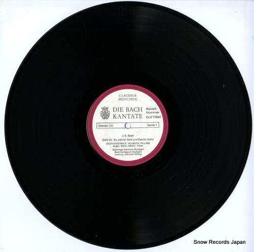 RILLING, HELMUTH die bach kantate / bwv23 du wahrer gott und davids sohn CLV71941 - disc
