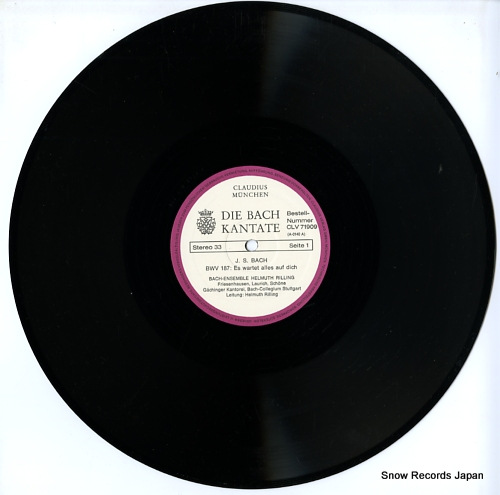 RILLING, HELMUTH die bach kantate / bwv187 es wartet alles auf dicha CLV71909 - disc