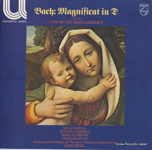 REDEL, KURT bach; magnificat in d / cantata uns ist ein kind geboren 6581014 - front cover