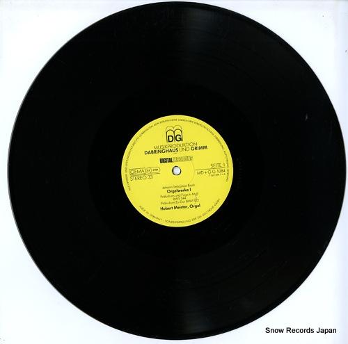 MEISTER, HUBERT bach; orgelwerke i MD+GG1084 - disc