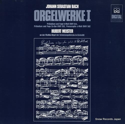 MEISTER, HUBERT bach; orgelwerke i MD+GG1084 - front cover