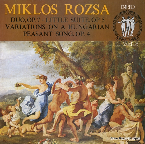 ROZSA, MIKLOS rozsa; duo, op.7 ECL9043 - front cover