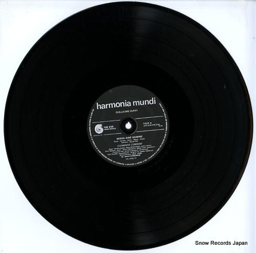 CLEMENCIC CONSORT dufay; missa sine nomine HMU939 - disc