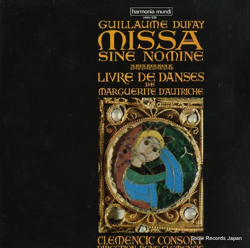 CLEMENCIC CONSORT dufay; missa sine nomine HMU939 - front cover