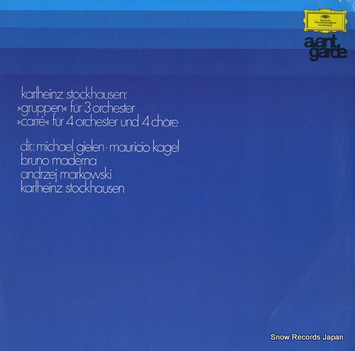 V/A stockhausen; gruppen fur 3 orchester / carre fur 4 orchester und 4 chore 137002 - front cover