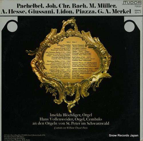 BLOCHLIGER, IMELDA / HANS VOLLENWEIDER seltene orgel-& cembalomusik aus der klosterkirche zu st.peter im schwarzwald TUDOR73020 - back cover