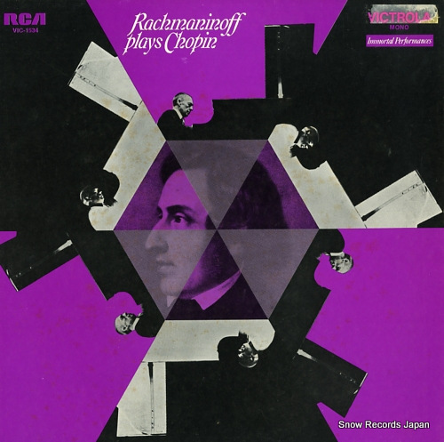 RACHMANINOV, SERGEI rachmaninoff play chopin VIC-1534 - front cover