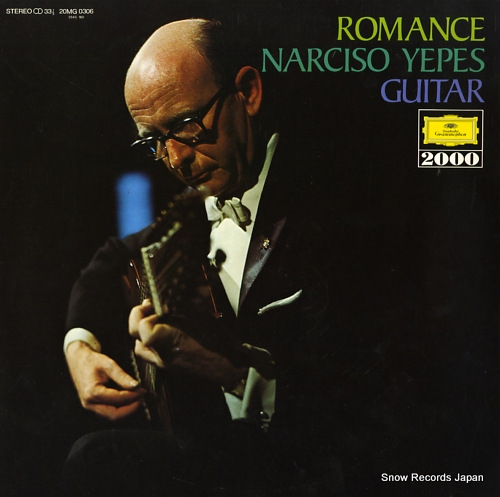 YEPES, NARCISO romance / narciso yepes, guitar 20MG0306 - front cover
