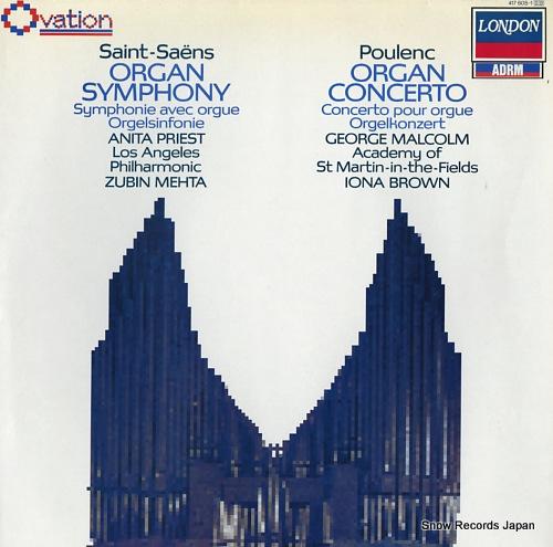 PRIEST, ANITA / GEORGE MALCOLM saint-saens; organ symphony 417605-1 - front cover