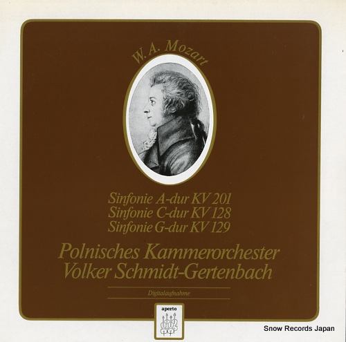 SCHMIDT-GERTENBACH, VOLKER mozart; sinfonir a-dur kv201, c-dur kv128 & g-fur kv129 APO240243 - front cover