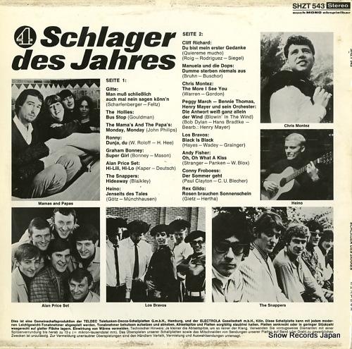 V/A schkager des jahres 4 SHZT543 - back cover