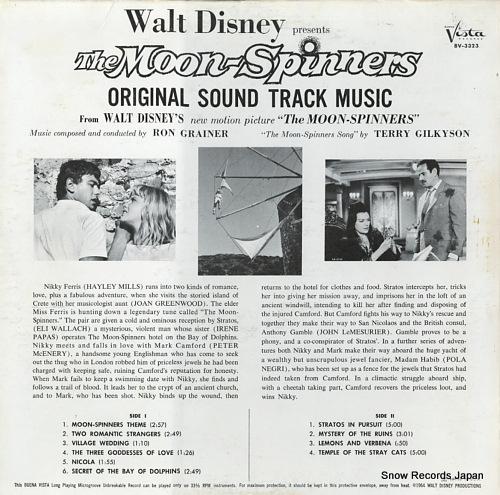ロン・グレイナー/テリー・ギルキソン walt disney presents the moon-sprinners BV3323