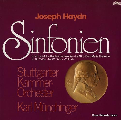 MUNCHINGER, KARL haydn; sinfonien nr.45, nr.48, nr.88, nr.92 INT180.836 - front cover
