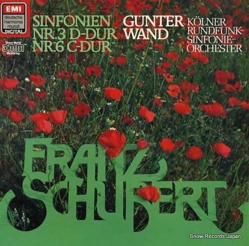 WAND, GUNTER schubert; sinfonien nr.3 d-dur, nr.6 c-dur EL1999881 - front cover