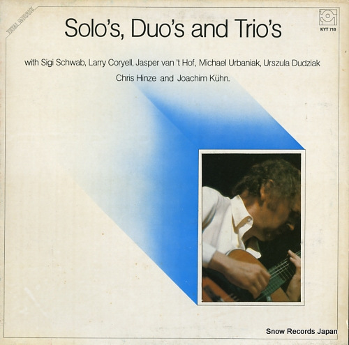 V/A solo's, duo's and trio's KYT718 - front cover