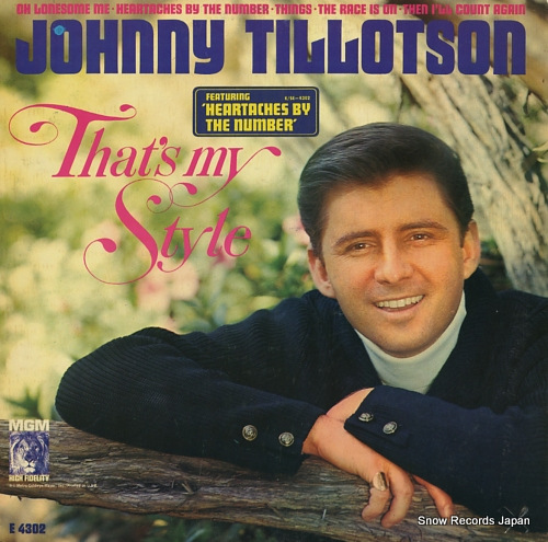 TILLOTSON, JOHNNY that's my style E4302 - front cover