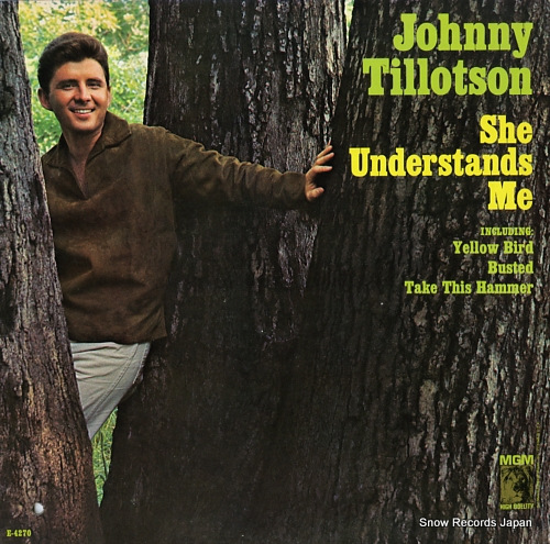 TILLOTSON, JOHNNY she understands me E-4270 - front cover