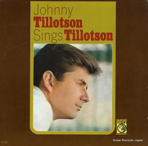 TILLOTSON, JOHNNY johnny tillotson sings tillotson vol.1 M-561 - front cover