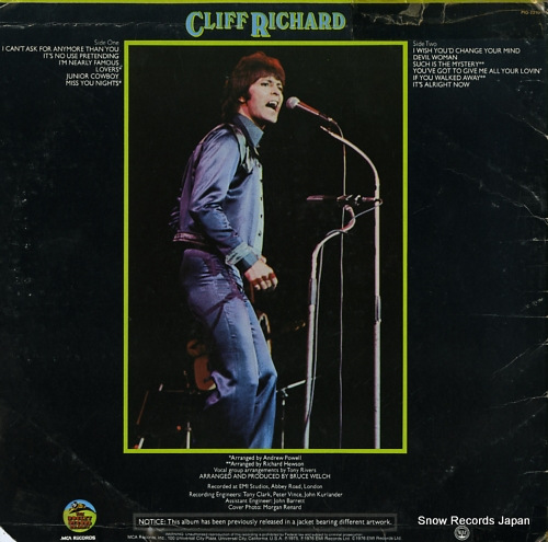RICHARD, CLIFF i'm nearly famous PIG-2210 - back cover