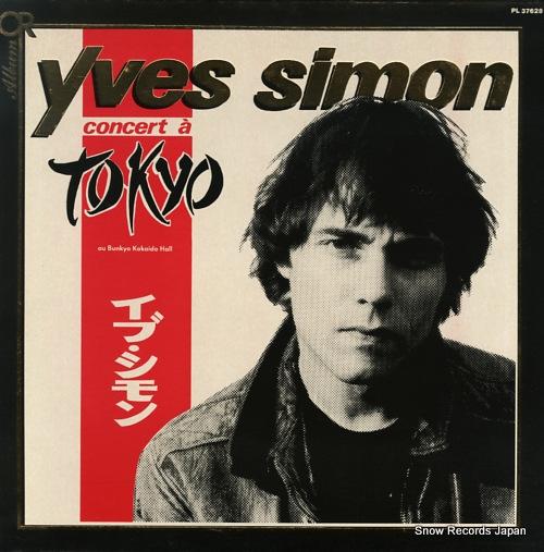 SIMON, YVES yves simon a tokyo PL37628 - front cover