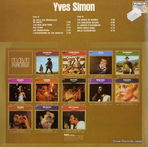SIMON, YVES disque d'or FPL17223 - back cover